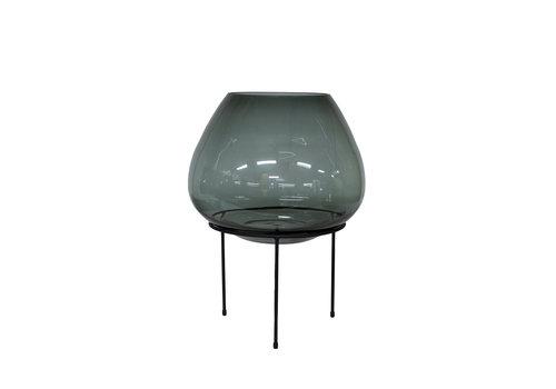 Dome Deco Große Vase auf schwarzem Standard - M
