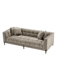Sofa 'Sienna' Greige Velvet