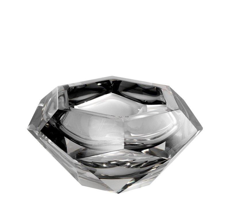 Schale 'Las Hayas' aus grauem Kristallglas