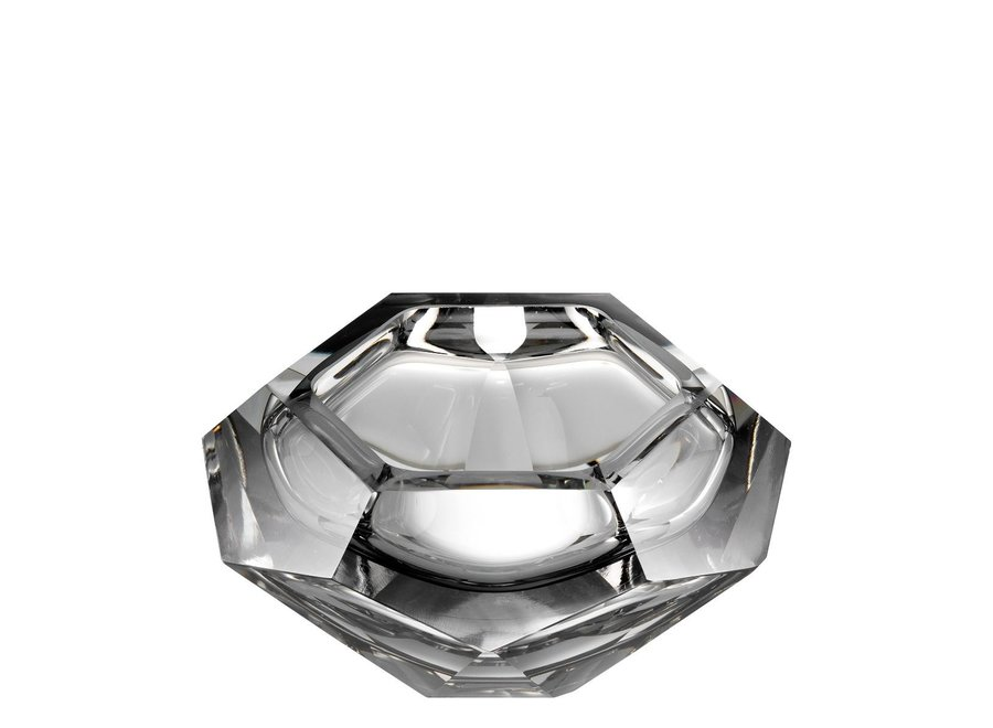 Bowl  'Las Hayas' Grey Crystal Glass