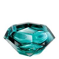 Schale 'Las Hayas' aus türkis Kristallglas