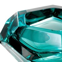 Bowl  'Las Hayas' Turquoise Crystal Glass