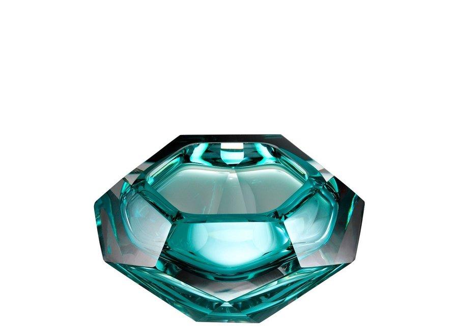 Bowl  'Las Hayas' Turquoise Crystal Glass