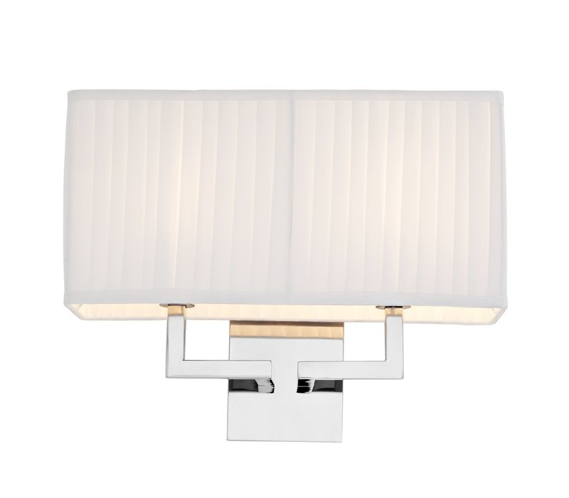 Westbrook wall lamp with pleated shade