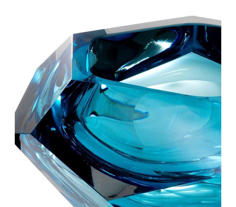 Bowl 'Las Hayas' Blue Crystal Glass