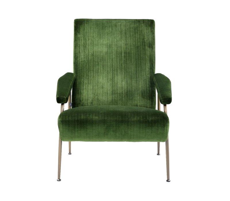 Catania Green Velvet Armchair'Gio'