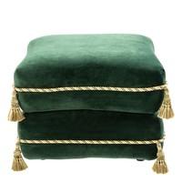 Hocker 'Bernini' Dark Green Velvet