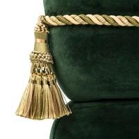 Stool 'Bernini' Dark Green Velvet