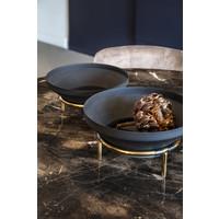 Schaal 'black on golden stand' M - 15cmH x 30cmD