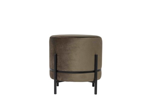 Dome Deco Round footstool 'Baba' Brown - S