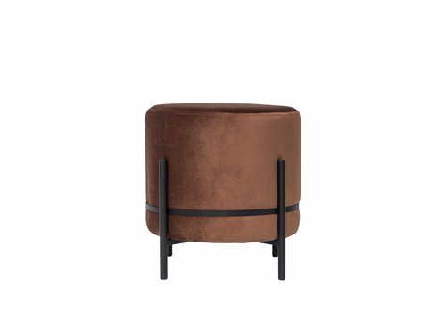 Dome Deco Round footstool 'Baba' Terra - S