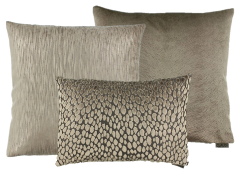 CLAUDI Cushion combination Brown/Sand: Perla, Speranza & Ferro
