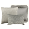 CLAUDI Cushion combination Sand/Taupe: Esta, Speranza & Dafne + fringe