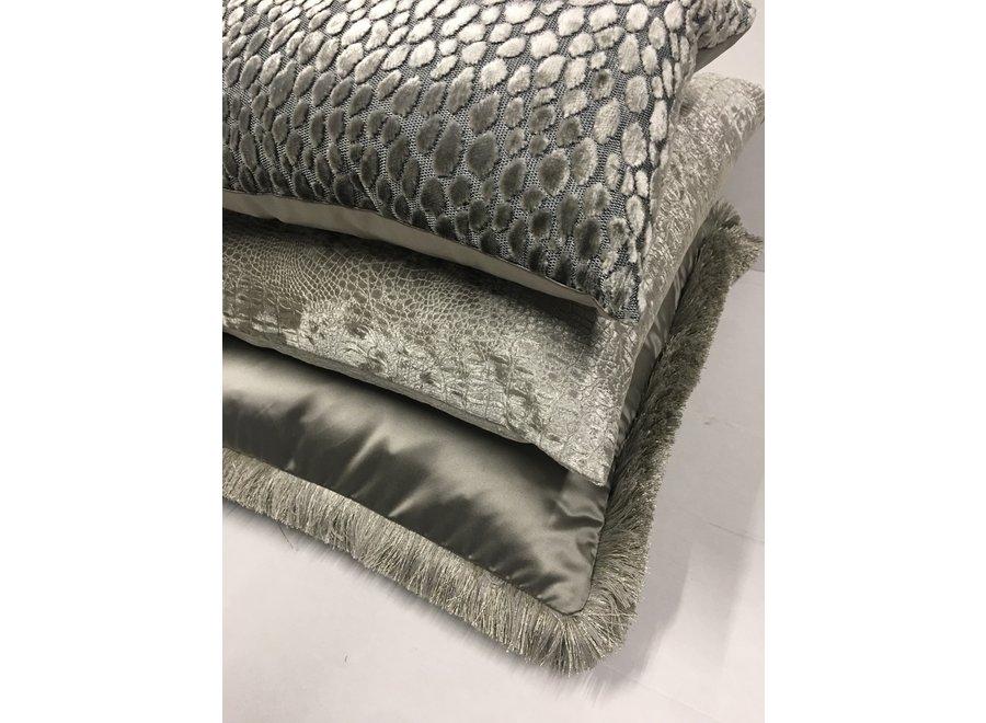 Cushion combination Sand/Taupe: Esta, Speranza & Dafne + fringe