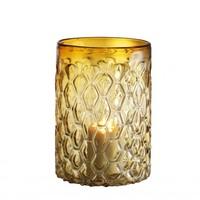 Wind lamp 'Aquila' S Glass Yellow H. 28 cm