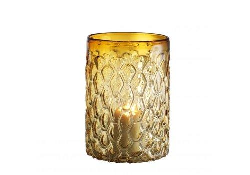 EICHHOLTZ Windlicht 'Aquila'  S  Glas Geel