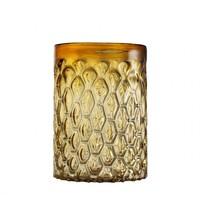 Windlicht 'Aquila' S Glas Gelb H. 28cm