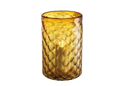 EICHHOLTZ Windlicht 'Aquila'  L  Glas Geel
