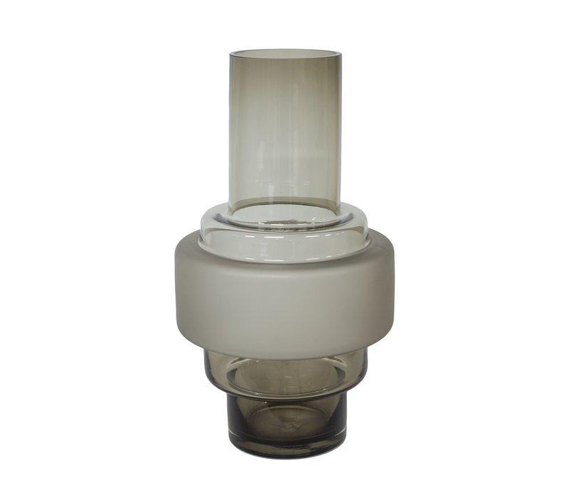 Modern glass vase - H35 x D20 cm