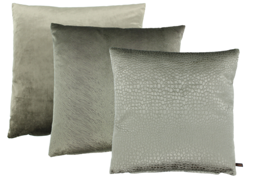 CLAUDI Cushion combination Taupe: Paulina, Perla & Biagio