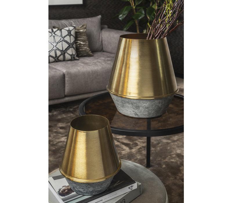 """Vase """"Gold"""" - H27 x D25 cm"""