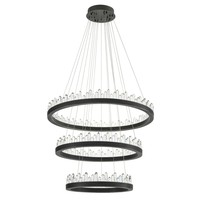 Chandelier 'Randall' bronze finish & crystal glass