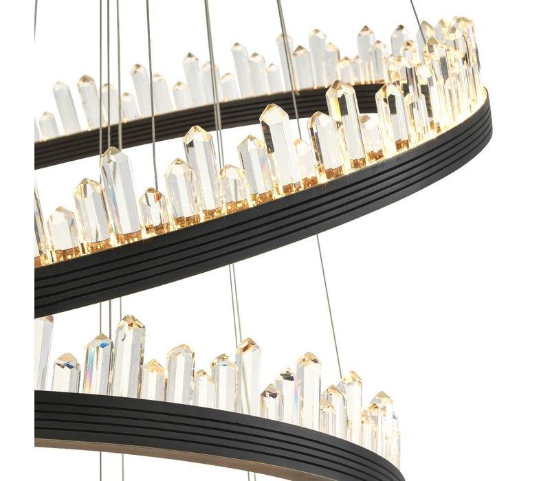 Chandelier 'Randall' bronze finish & crystal glass