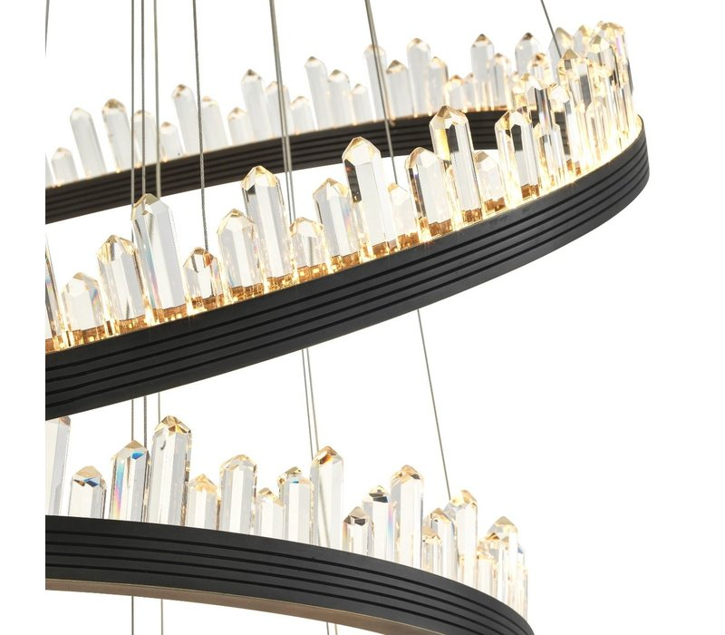 Kronleuchter 'Randall'  bronze & Kristallglas