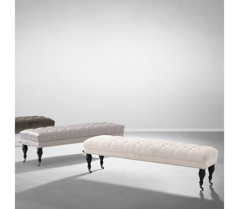Bench 'Benedict' Ecru Velvet 160 cm