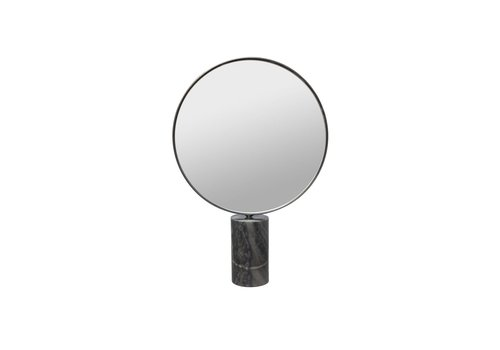 Dome Deco Make-up mirror round - grey marble