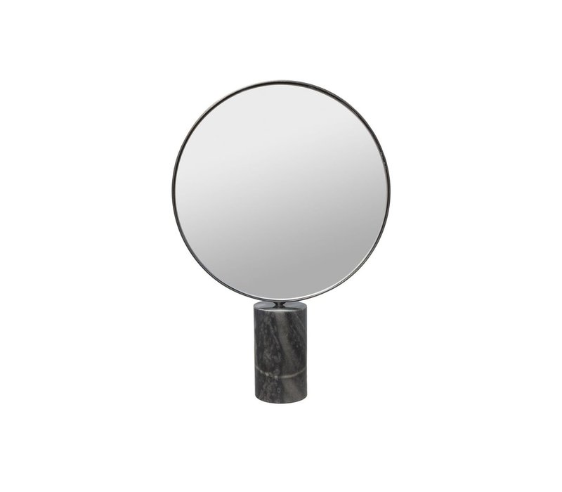 Make-up mirror on a grey marble base