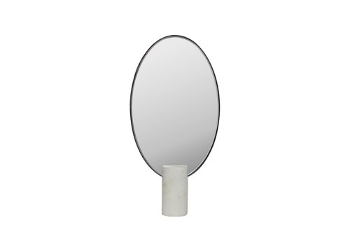 Dome Deco Make-up mirror oval - white marble