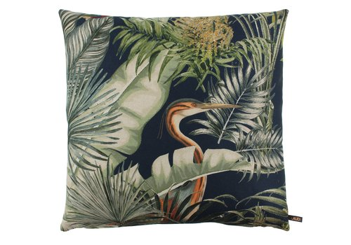 CLAUDI Cushion Birds Niagara Indigo