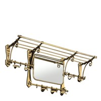 'Old French' Coatrack antique brass