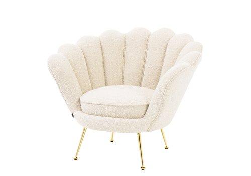 EICHHOLTZ 'Trapezium'  Chair Bouclé Cream