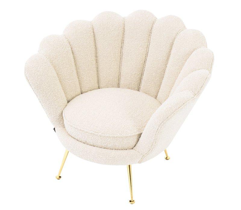 'Trapezium'  Chair Bouclé Cream