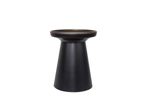 Dome Deco Round Side table matt black/bronze