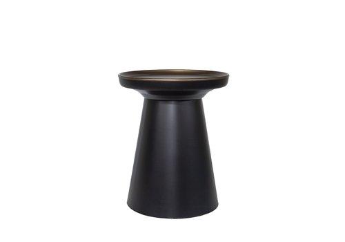 Dome Deco Runde Beistelltisch matt black/bronze