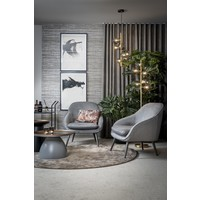 Round Coffee table matt grey/bronze