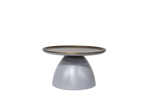 Dome Deco Round Coffee table matt grey/bronze