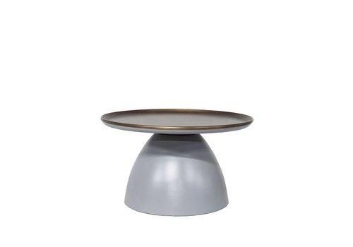Dome Deco Rund Couchtisch matt grey/bronze