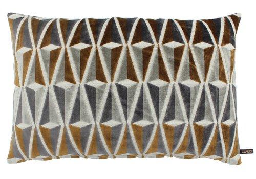 CLAUDI Cushion Fionare Copper / Grey