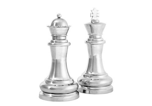 EICHHOLTZ Decoratie set 'Chess King & Queen'