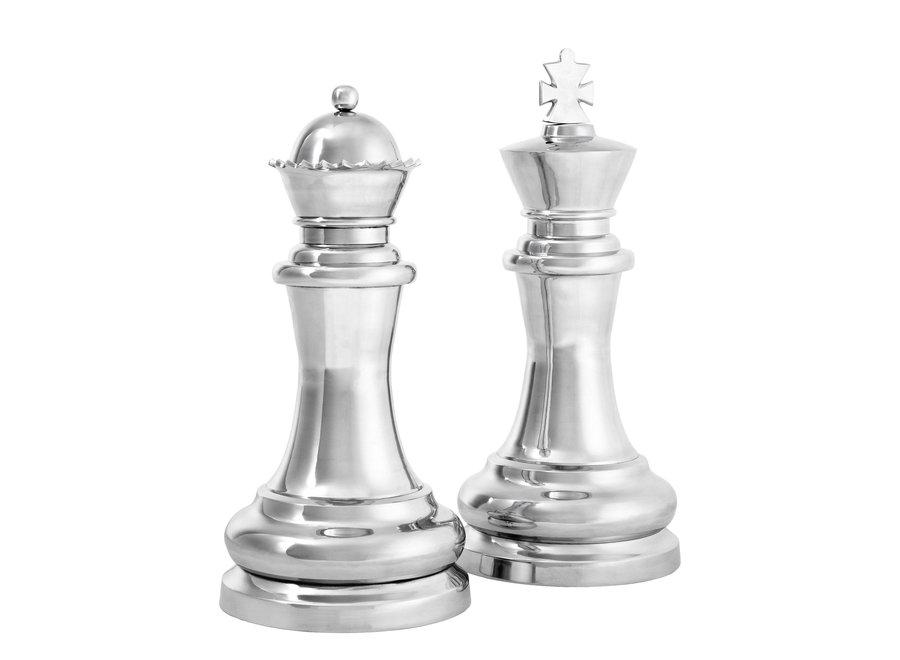 Decoratie set 'Chess King & Queen'