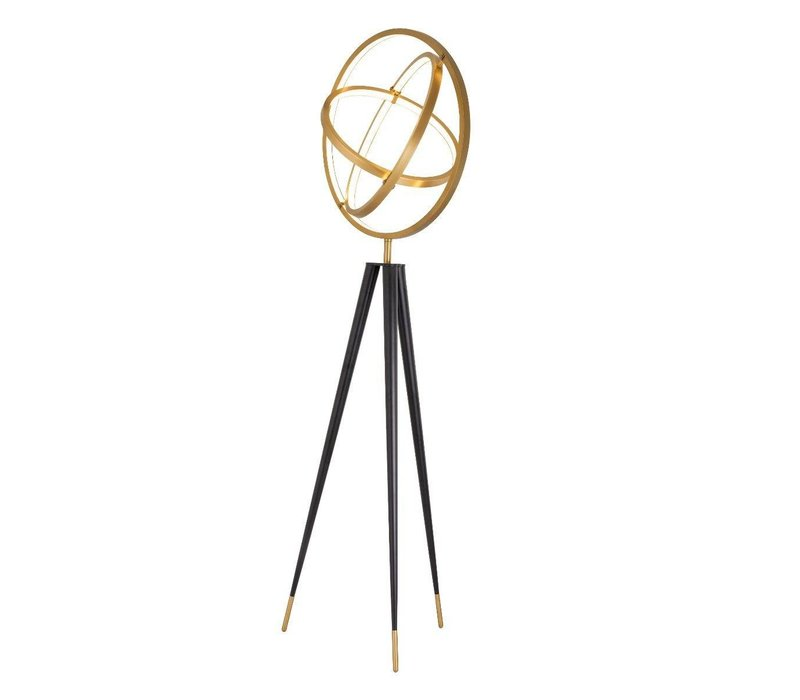 Stehleuchte 'Cassini' antique brass H. 205 cm