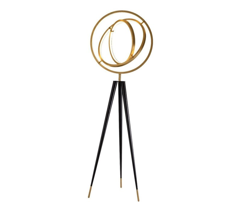 'Cassini' floor lamp antique brass H. 205 cm