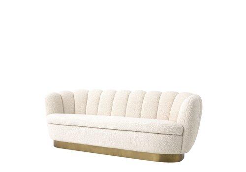 EICHHOLTZ Mirage Sofa White Faux Sherling
