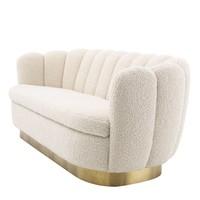 'Mirage' Sofa White Faux Sherling