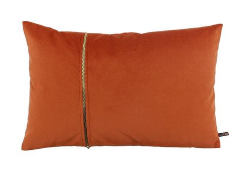 CLAUDI Kussen Rosana Orange + gold zipper
