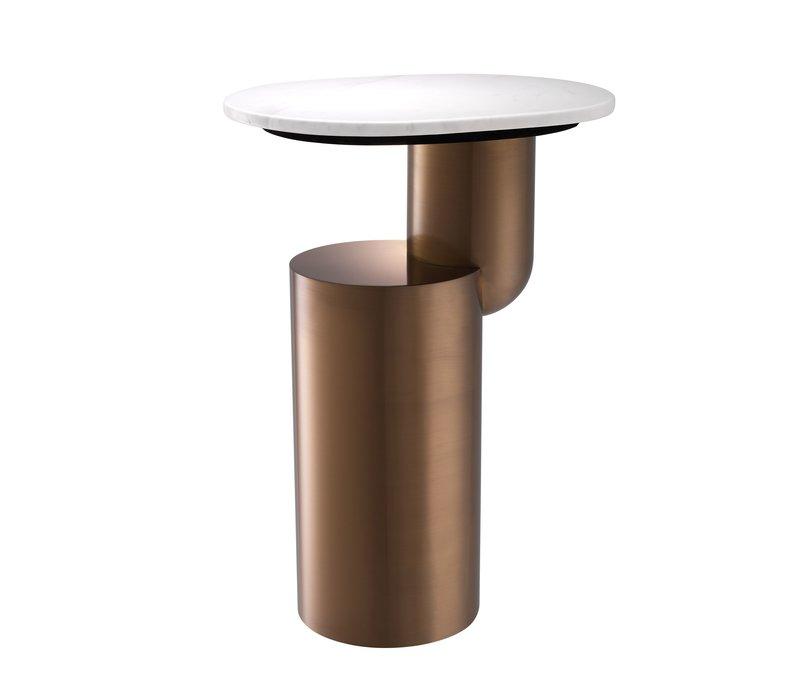 Hoge bijzettafel 'Tosca' Brushed Copper